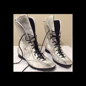 Sneaker Combat Boot Mid Calf Lace Up Price Is Firm